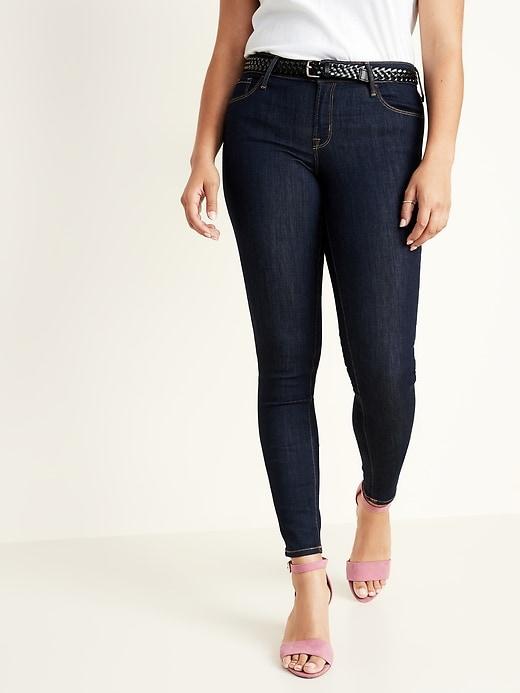 Low-Rise Rockstar Dark-Wash Super Skinny Jeans for Women