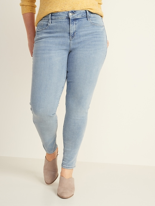 Mid-Rise Rockstar Super Skinny Jeans for Women