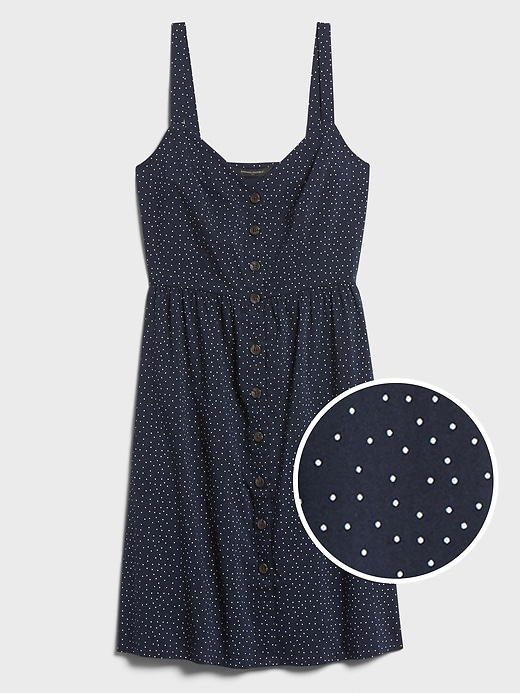 Button-Front Fit-and-Flare Dress