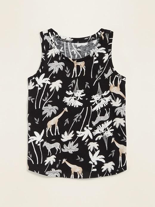 Printed Jersey Tank Top for Toddler Girls