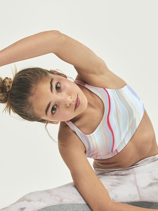 Athleta Girl Printed Upbeat Bra 2.0
