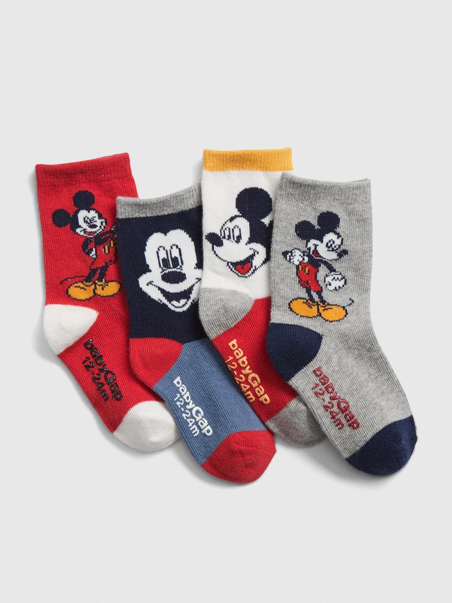 Babygap | 4足組disney Mickey Mouse クルーソックス