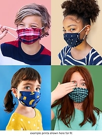 Variety 5-Pack of Triple-Layer Cloth Face Masks for Kids
