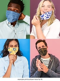 Variety 5-Pack of Triple-Layer Cloth Face Masks for Adults