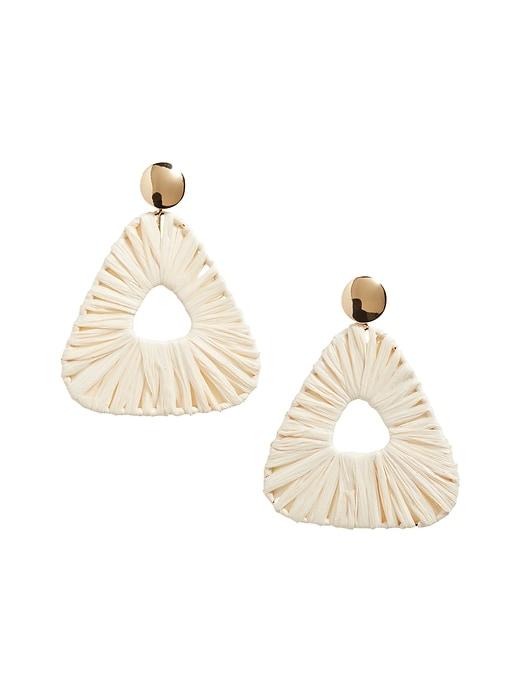 Triangle Raffia Earrings