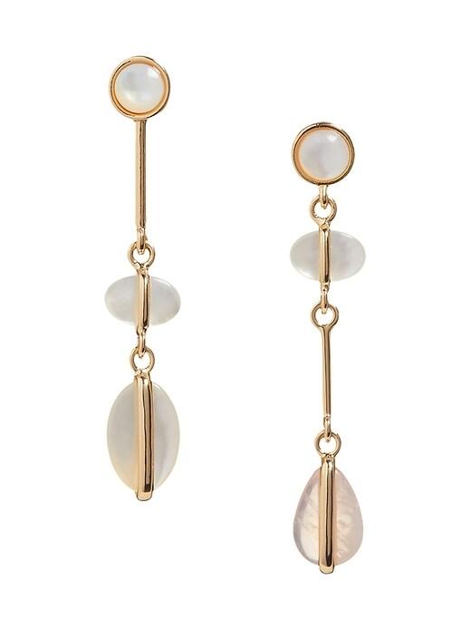 Asymmetrical Shell Drop Earrings