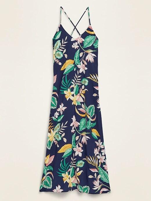 Sleeveless V-Neck Maxi Shift Dress for Women