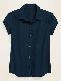 Oldnavy Uniform Short-Sleeve Shirt for Girls Hot Deal
