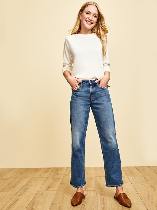 High-Waisted Slim Wide-Leg Jeans for Women
