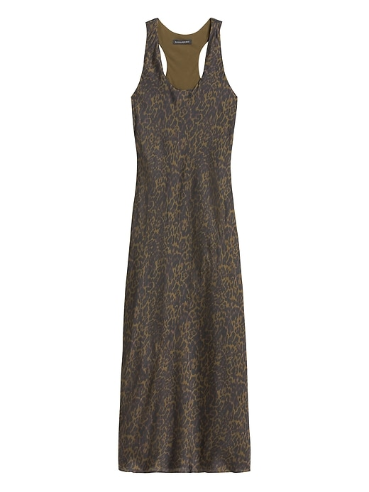 Petite Leopard Print Satin Slip Dress