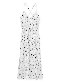 Petite Wrap-Effect Midi Dress