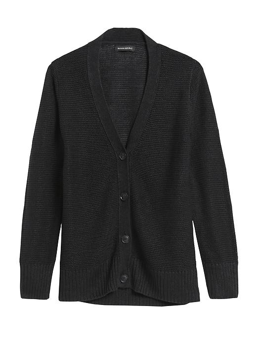 Italian Linen Cardigan Sweater