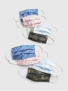 Family Unisex Full-Coverage Accordion Mask (8-Pack)