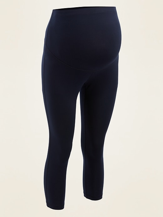 Maternity Full-Panel Elevate Compression Crops