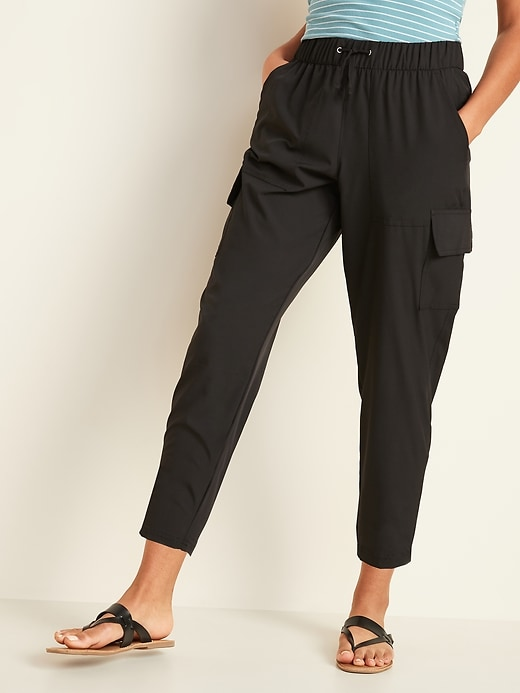 OLD NAVY High-Waisted StretchTech Cargo Jogger Ankle Pants for Women