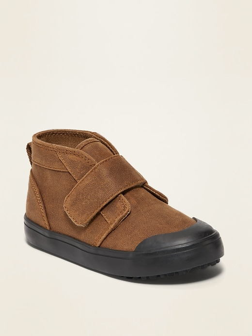 OLD NAVY Faux-Suede Mid-Top Chukka Sneakers for Toddler Boys