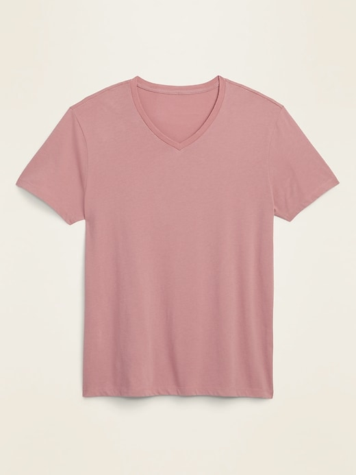 T-shirt col en V au fini soyeux, coupe parfaite pour homme
