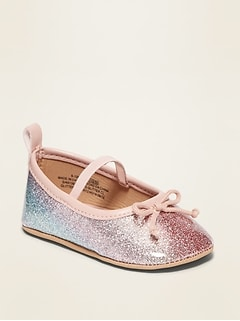 Oldnavy Glitter Ballet Flats for Baby Hot Deal
