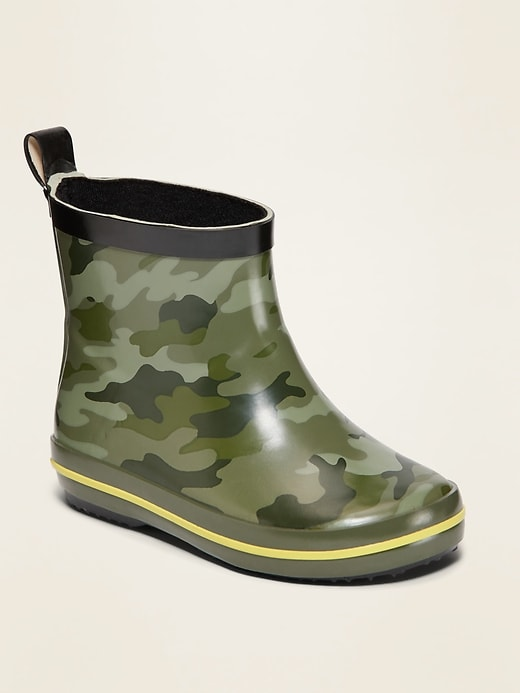 OLD NAVY Camo-Print Rainboots for Toddler Boys