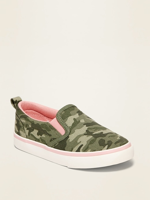 OLD NAVY Camo-Print Canvas Slip-Ons for Toddler Girls