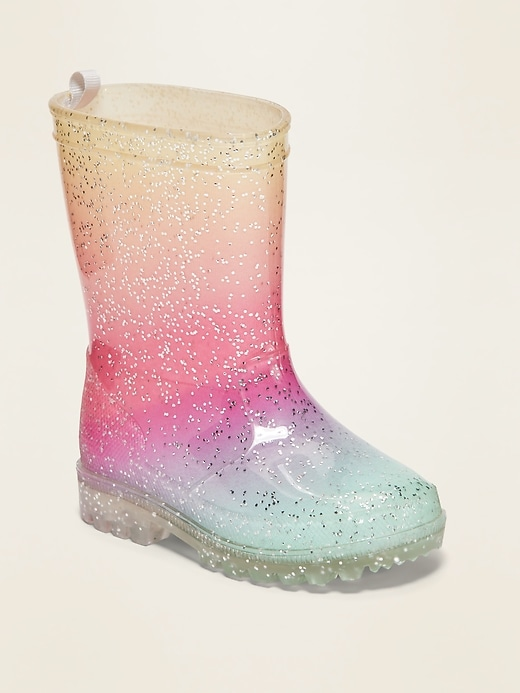 OLD NAVY Ombré Glitter Rainboots for Toddler Girls