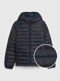 갭 GAP Kids Upcycled Lightweight Puffer Jacket,sizzling fuchsia
