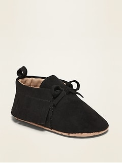Oldnavy Unisex Faux-Suede Moccasin Booties for Baby