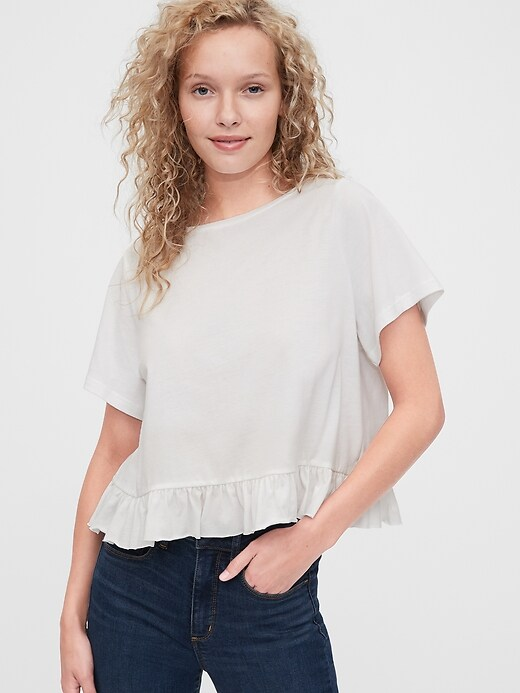 Vintage Ruffle Sleeve T-Shirt