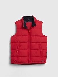 갭 GAP Kids BetterMade ColdControl Max Puffer Vest,pure red