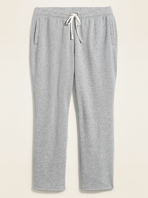 Mid-Rise Straight French Terry Plus-Size Sweatpants