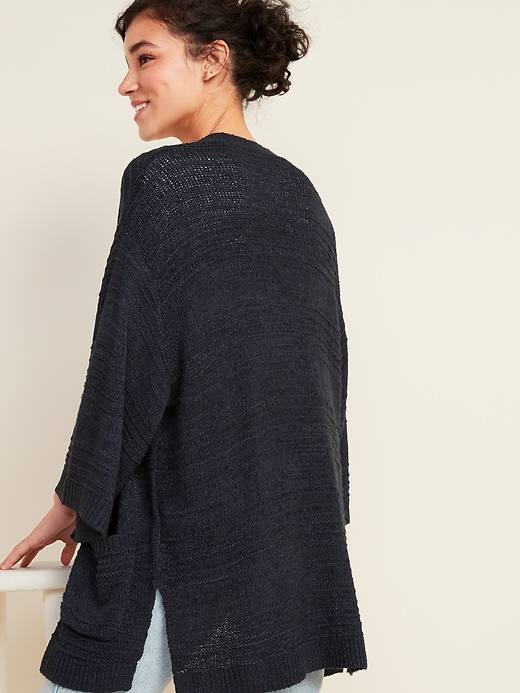 Textured Open-Front Sweater for Women