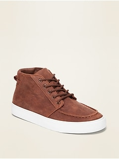 Oldnavy Faux-Leather High-Top Moccassins for Boys