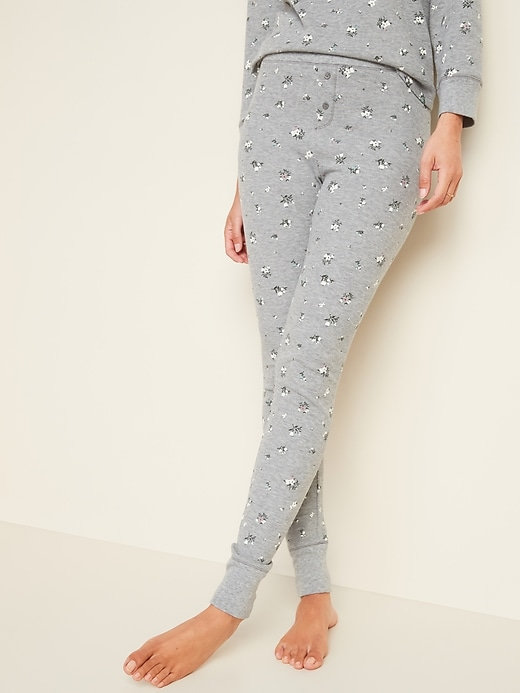 OLD NAVY Thermal-Knit Pajama Leggings for Women