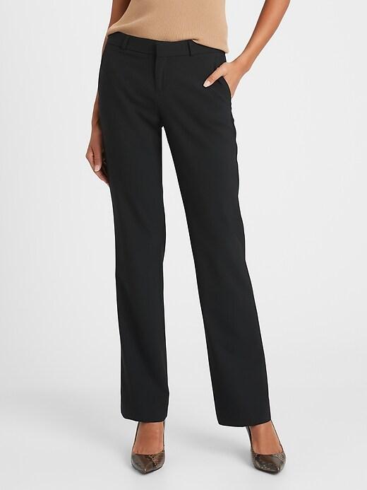 Logan Trouser-Fit Washable Wool-Blend Pant