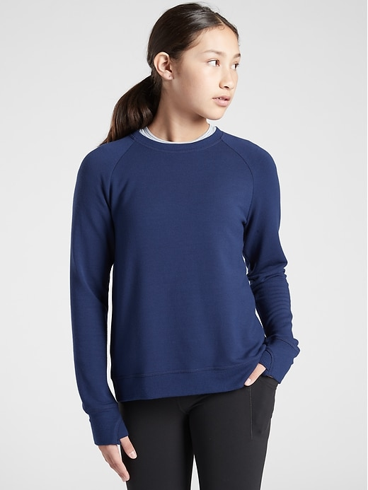 Athleta Girl Cozy Cross Your Fingers Sweatshirt