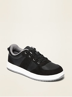 Oldnavy Nylon/Faux-Suede Elastic-Lace Sneakers for Boys