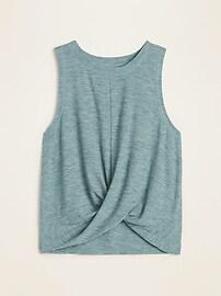 Breathe ON Twist-Hem Cropped Tank Top for Women