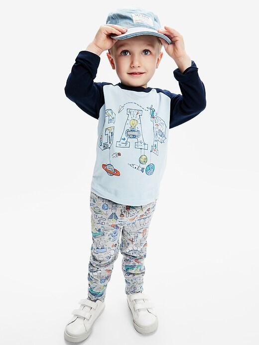 Toddler Print Pull-On Joggers