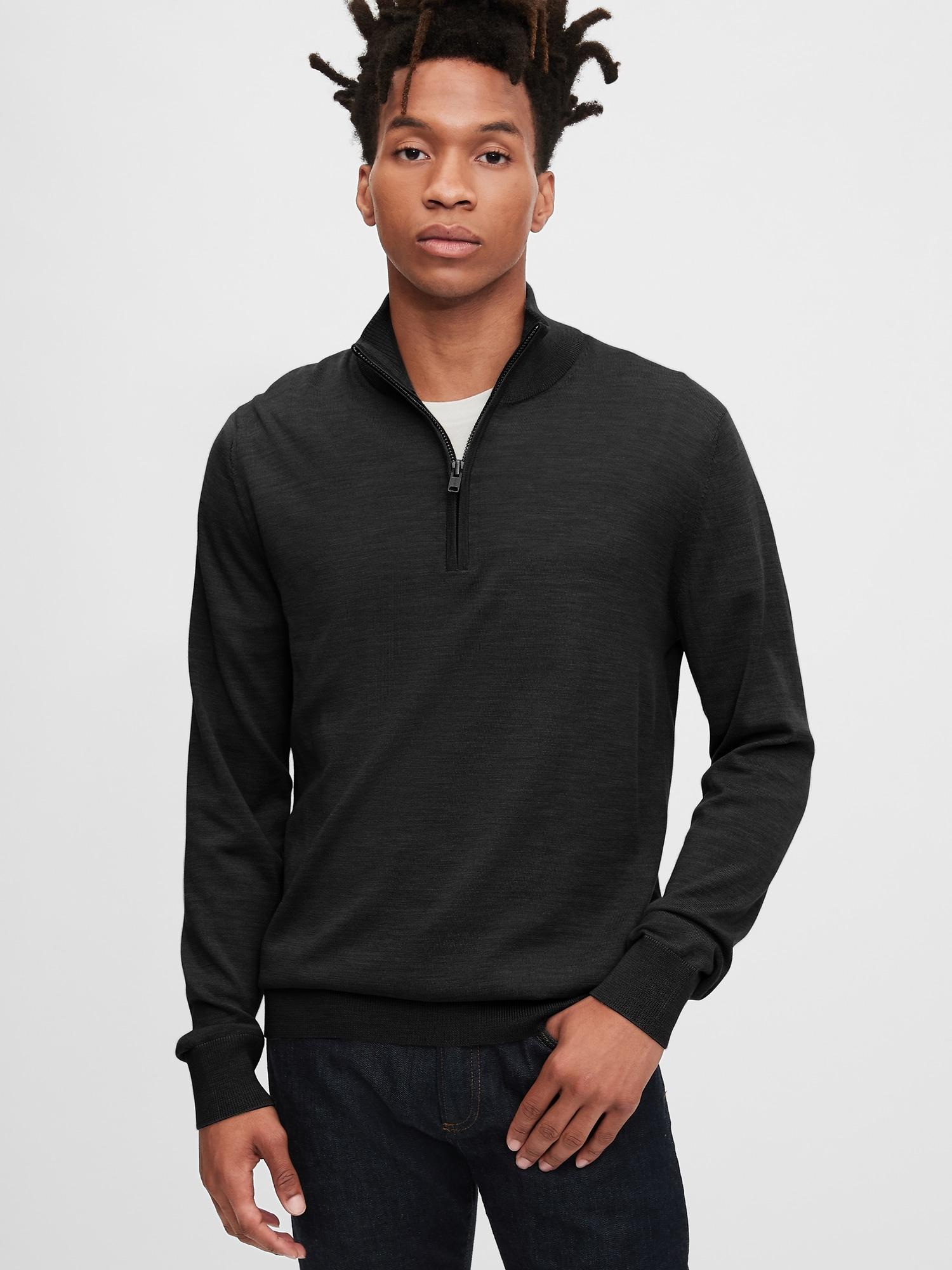 メリノモックネックセーター