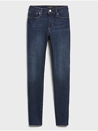 Mid-Rise Skinny Ankle Jean with Raw Hem