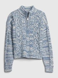 갭 여아용 케이블 집업 가디건 GAP Kids Cable-Knit Sweater,ivory frost