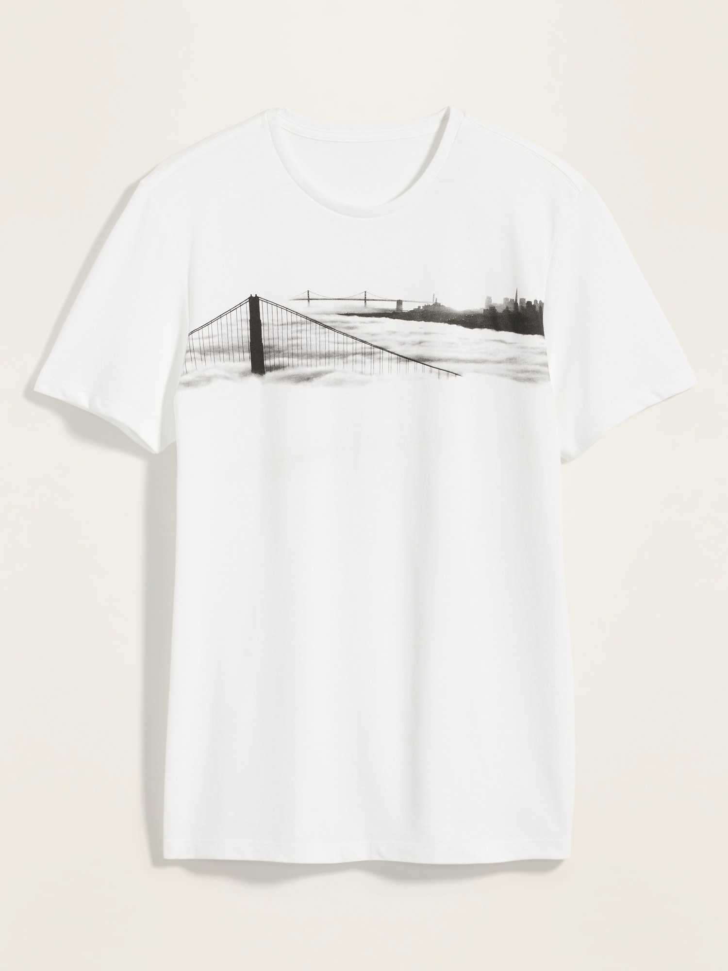 *Hot Deal* Soft-Washed Graphic Crew-Neck Tee for Men