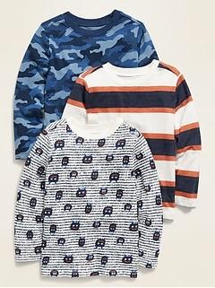 Oldnavy Unisex Long-Sleeve Crew-Neck Tee 3-Pack for Toddler Hot Deal