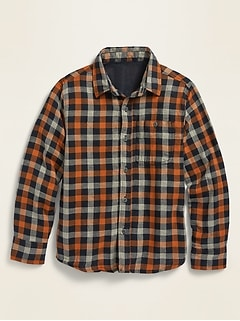 Oldnavy Patterned Double-Weave Long-Sleeve Shirt for Boys