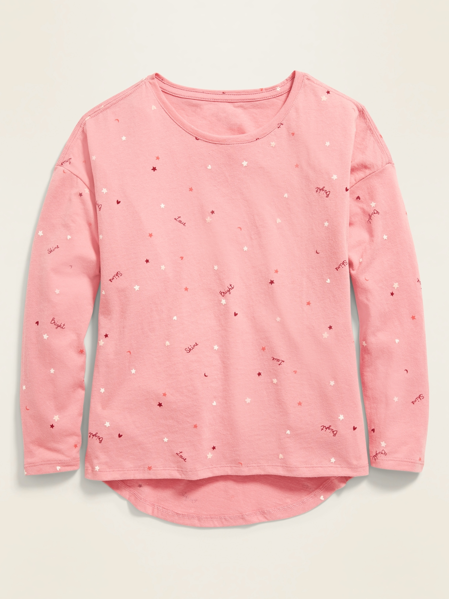 Softest Printed Long-Sleeve Tee for Girls