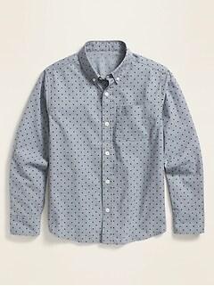 Oldnavy Built-In Flex Printed Long-Sleeve Shirt for Boys