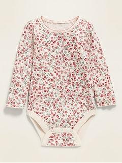 Oldnavy Unisex Floral Thermal Henley Bodysuit for Baby