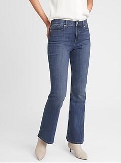 bananarepublic High-Rise Dark Wash Slim Flare Jean