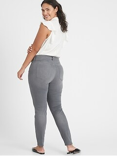 bananarepublic Curvy High-Rise Washed Out Grey Skinny Jean