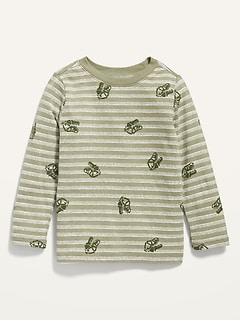 Oldnavy Unisex Printed Long-Sleeve Tee for Toddler Hot Deal